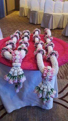 Krish Events - Event Planner in Bangkok Wedding Garlands, Flower Garland Wedding, Backyard Wedding Decorations, Wedding Mandap, Floral Garland, Indian Wedding Decorations, Flower Garlands, Flower Decorations, Indian Wedding Flowers