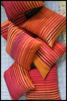Pillow covers made from hand dyed all cotton #batik from Indonesia.  Each pillow cover is unique! http://www.textiil.com/pillows/batik-pillows/
