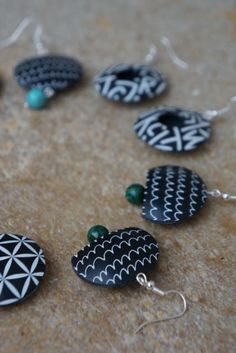 Lentilkové (screen printing) earrings | Instructions on creating jewelry from polymer materials | The polymeric matrix | Useful links Tips and Tricks | polymer clay, fimo courses, shop - Nemravka