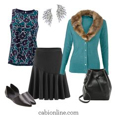 #cabi - The best part about the cabi Skater Skirt?  It goes with everything!