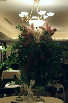 樹木という砂金 シェ松尾青山サロン様への装花 メモリアルテーブル