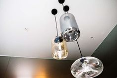 Cluster of glass pendant lights in bathroom #theblock #stylecurator #stylecuratorau
