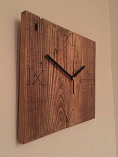 Rustic clock recycled wooden clock living room decor