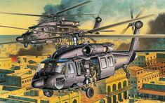 US Black Hawk helicopters in Mogadishu, Somalia