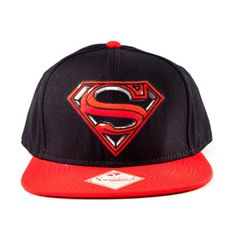 OFFICIAL DC COMICS MERCHANDISE SUPERMAN LOGO SNAPBACK RED BLACK BASEBALL CAP 518415472f