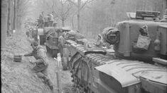 Britse tanks in het Reichswald