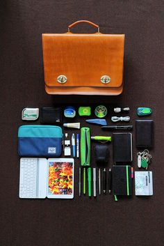 What's in my bag - leather on wool | Flickr - Fotosharing!