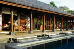 Bali Style Home 5 India House, Bali House, Tropical Architecture, Wood Architecture, Indonesian House, Resorts In Philippines, Bali Style Home, Asian House, Rest House