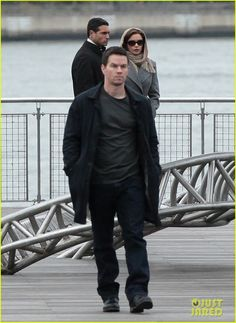 Catherine Zeta-Jones & Mark Wahlberg: 'Broken City' Set: Photo ...