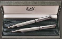 luxusná sada pier značky Laban, šterlingové striebro 925/000, guľ.pero +pentelka Luxury
