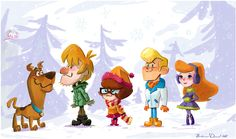 Scooby-Doo and gang by Brianne Drouhard  http://potatofarmgirl.blogspot.com/2012/12/onto-sparkling-2013.html