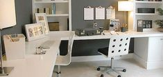 Sleek, simple, organized - home office that multiple people can use for bills, crafts or work