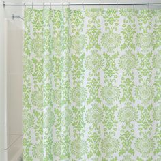 Amazon.com - InterDesign Damask Shower Curtain, 72 by 72-Inch, Navy -