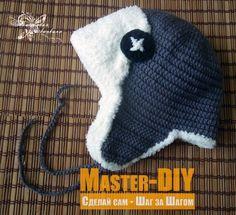 Связать детскую двухслойную шапка-ушанка. Мастер-класс по вязанию крючком шапки-ушанки для детей.
