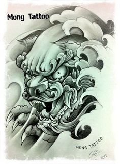 Trendy ideas for tattoo dragon sleeve foo dog Tatuajes Tattoos, Bild Tattoos, Body Art Tattoos, Sleeve Tattoos, Japanese Tattoo Art, Japanese Tattoo Designs, Tattoo Sketches, Tattoo Drawings, Future Tattoos