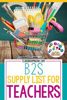 Grab all the back to school essentials by checking off this shopping list designed specifically for teachers prepping their classroom! #backtoschool #schoolshopping #schoolsupplies