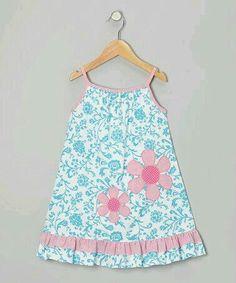 at this Blue Pink Floral Dress - Infant, Toddler Girls on today!Look at this Blue Pink Floral Dress - Infant, Toddler Girls on today! Fashion Kids, Little Dresses, Little Girl Dresses, Girls Dresses, Summer Dresses, Toddler Dress, Baby Dress, Infant Toddler, Toddler Girls