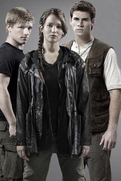 Peeta, Katniss, and Gale! Three awesome people!