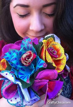 Canvas Flower Bouquet | CraftyChica.com | Official site of award-winnning artist and novelist, Kathy Cano-Murillo.