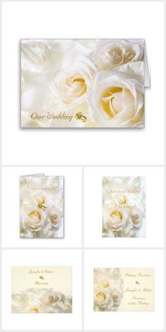 White Roses Wedding Set by Elenaind #Zazzle