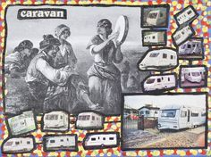 Damian Le Bas, Caravan, 2009 Caravan, Collages, It Works, Paintings, Baseball Cards, Artist, Montages, Collage, Paint