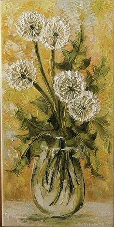 Oil painting Flowers art easy watercolor flowers step by step paintings of lilies flowers tree canvas art black and white floral wall art Texture Art, Texture Painting, Painting & Drawing, Dandelion Painting, Oil Painting Flowers, Diy Canvas Art, Floral Wall Art, Watercolor Paintings, Easy Watercolor
