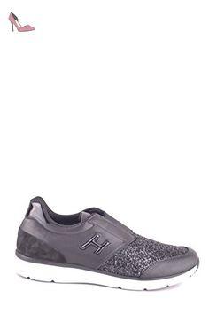 Hogan Homme Mcbi148305o Noir Cuir Chaussures De Skate - Chaussures hogan (*Partner-Link)