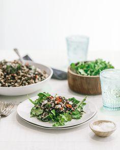 Black Rice & Farro Salad New York Times Cooking, Swordfish Steak, Farro Salad, Grain Salad, Sherry Vinegar, Black Rice, Bbq Ideas, Salad Ideas, Grilled Fish