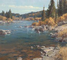 Scott-Christensen_Autumn-Fishing-Run - Southwest Art Magazine Watercolor Landscape, Landscape Art, Landscape Paintings, Classic Paintings, Beautiful Paintings, Autumn Painting, Pastel, Southwest Art, Wow Art