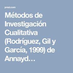 Métodos de Investigación Cualitativa (Rodríguez, Gil y García, 1999) de Annayd…