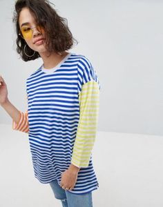 ASOS Top in Oversized Cutabout Stripe