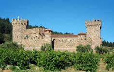 Castello di Amorosa - Winery - 13th-century–style winery offering guided tours of the castle & tastings of Italian-inspired wines. 4045 Helena Highway, Calistoga, California .