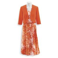Brushstroke Petals Dress & Jacket Set