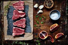 Lamb Chops & Blood Orange Sauce Ingredients by tartelette, via Flickr