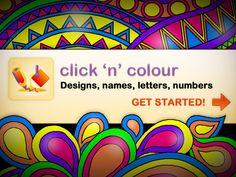 iPad Click 'N' Colour app