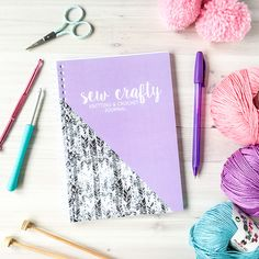 Brand New Sew Crafty Knitting and Crochet Journal The sewing note book you have been waiting for, this journal will be your new sewing best friend!