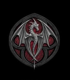 Anne Stokes : Altar Drake Diff colours behind the dragon would makea cool tattoo. Anne Stokes, Magical Creatures, Fantasy Creatures, Fantasy Dragon, Fantasy Art, Fantasy Logo, Dragon Medieval, Dragon Artwork, Cool Dragons