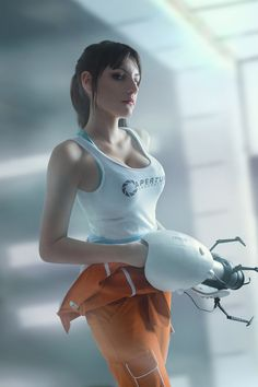 Portal 2 - Chell cosplay by lAmikol.deviantart.com on @DeviantArt - More at https://pinterest.com/supergirlsart/