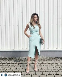 with ・・・ Windy Pitesti ☕️ walking down the streets in 🔛 Wrap Dress, 21st, Jumpsuit, Boutique, Womens Fashion, Instagram Posts, Pants, Shopping, Dresses