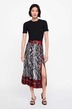62de61e29 FLORAL PRINT SKIRT-NEW IN-WOMAN   ZARA United States Floral Print Skirt,