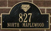 PADRES Personalized Arched Address Plaque by Riddell. $74.99. Cast iron personalized team logo address plaque.