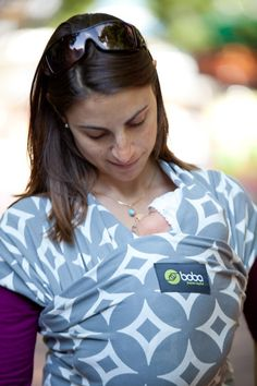 Love the fun and unique feel of the Stardust print Boba Wrap! @Boba #baby #freedomtogether