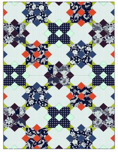 Simply Eclectic Fabrics quilt pattern by Sharon McConnell, free pattern