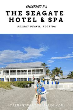 Stay in this boutique hotel in Delray Beach for a family or couple getaway. Seagate Beach Delray Florida #florida #beach #delraybeach