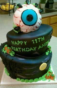 Favorite Halloween birthday cake design ever!!