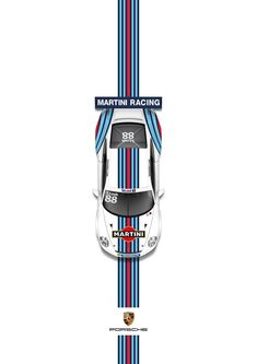 The iconic Martini Racing stripes, originally conceived in Revived for Sebastien Loebs appearance in the Porsche Supercup in Printed on a heavyweight, gloss paper and posted within three days. Fox Racing, Vespa Racing, Buggy Racing, Race Car Birthday, Race Car Party, Cars Birthday Parties, Funny Car Drag Racing, Sports Car Racing, Martini Racing
