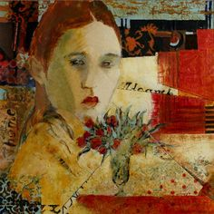 Girl with Bouquet...Judy Thorley TWS - Mixed Media Artist