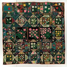 Embroidered Wool Album Crazy Quilt Maker Unknown Georgetown C.1890-1910 Collection…""