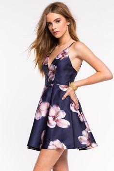 Women's Fit & Flare Dresses | Wonderland Floral Flare Dress | A'GACI