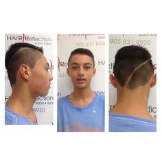 #fade#hardpart#menshair#trend#fun#short#cut#style#hairreflection#salon Short Cuts, Cut And Style, Fitbit, Salons, Spa, Hair, Beauty, Fashion, Pixie Cuts